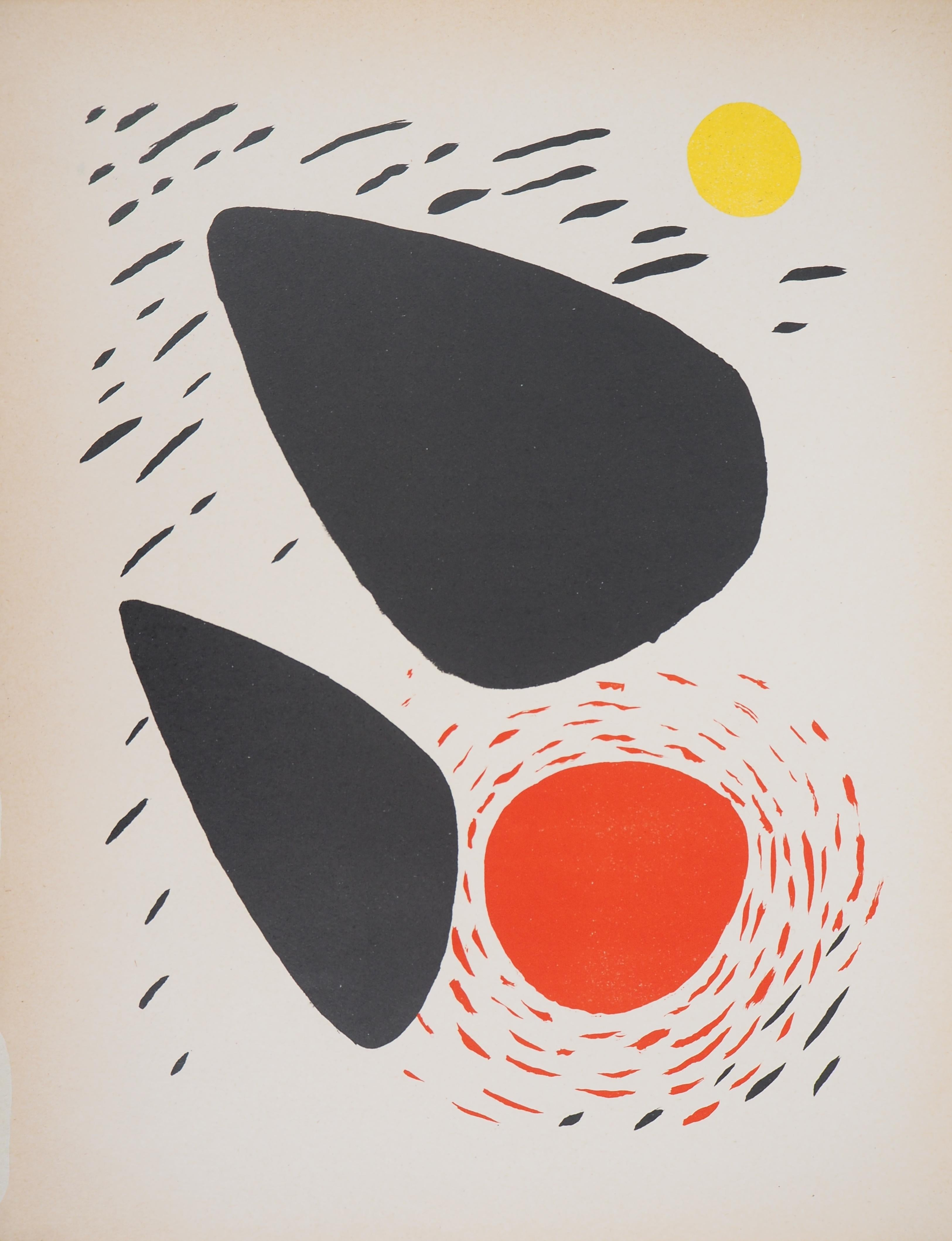 Rocks and Sun - Original lithograph - Mourlot, 1952
