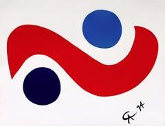 Sky Bird (Braniff Flying Colors), 1974 Ltd Ed Lithograph, Alexander Calder