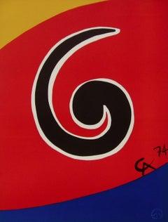 Sky Swirl (Braniff Flying Colors), 1974 Ltd Ed Lithograph, Alexander Calder