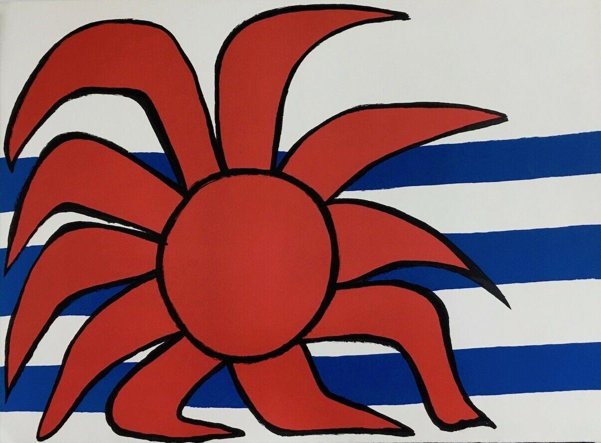 Soleil sur la Vagues (Red Sun Above the Waves)