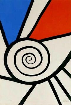 Spirale rouge et Bleu