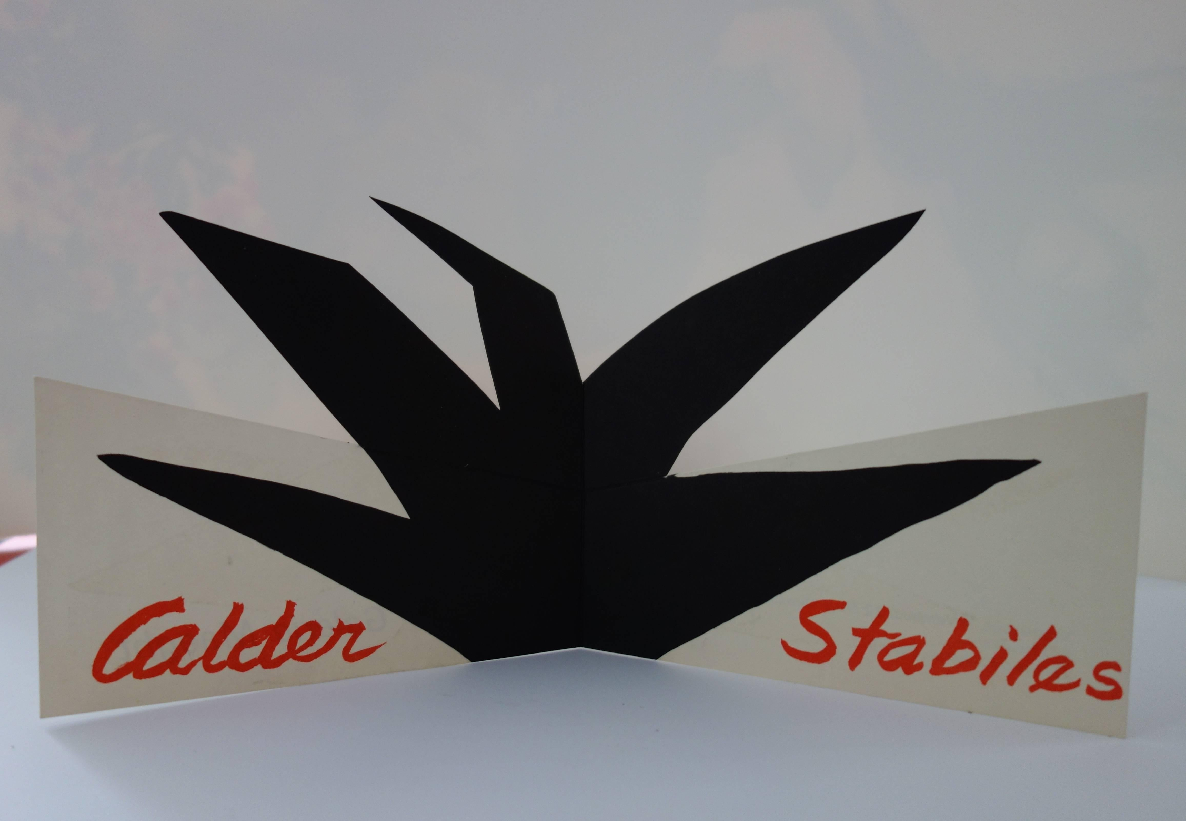 Stabiles - Original lithographic pop-up card - Plate signed - Maeght 1963