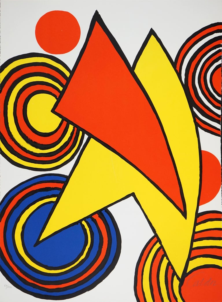 The Triangles et Spirale - Print by Alexander Calder