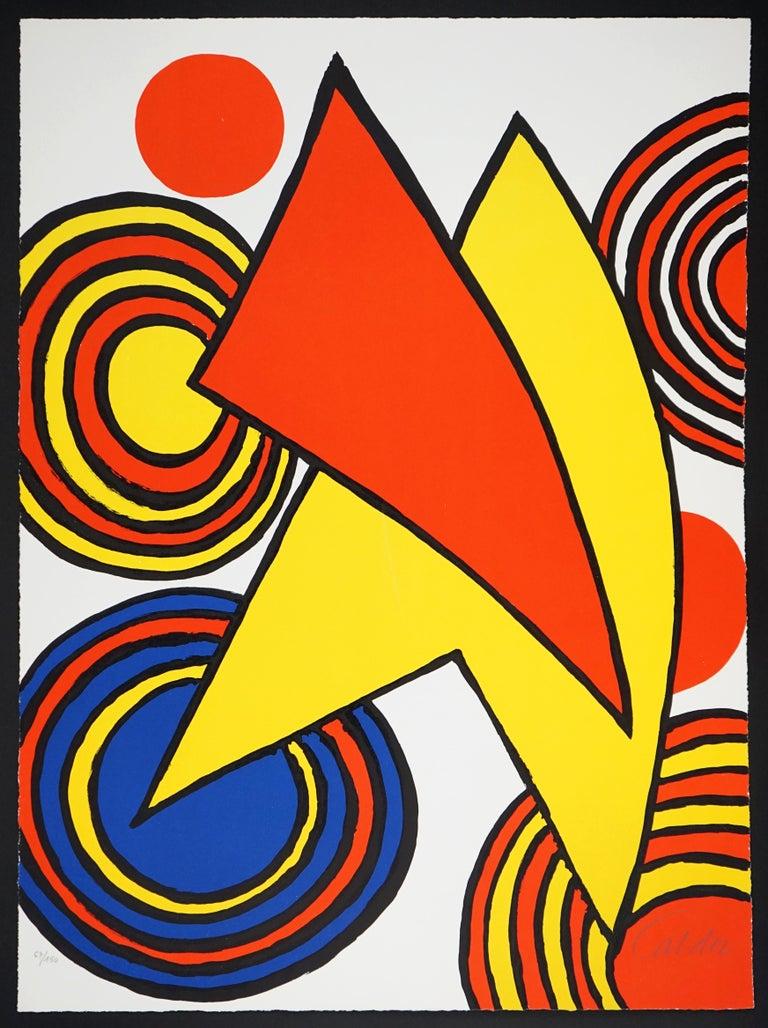 Alexander Calder Abstract Print - The Triangles et Spirale