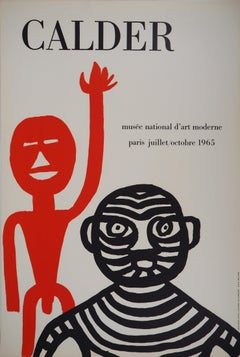 Tiger Man and Red Man Exhibition Poster, 1965