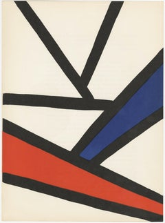 Untitled (black, red and blue abstract lines)