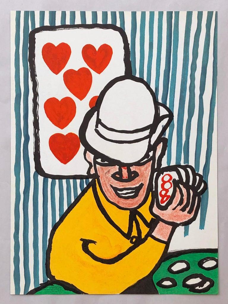 Alexander Calder lithograph 1970s (Calder Las Vegas card player)  - Pop Art Print by Alexander Calder