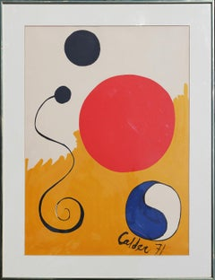 Yellow, Blue, & Red Abstract Modern Geometric Lithograph Edition 152 / 500