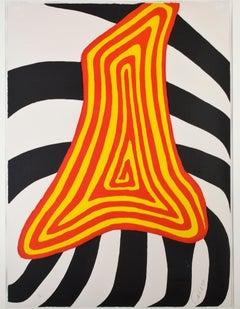 """""""Zebra Jaune et Zebra Noir,"""" original color lithograph by Alexander Calder"""