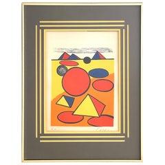 Alexander Calder, Pyramids and Circles, C. 1975