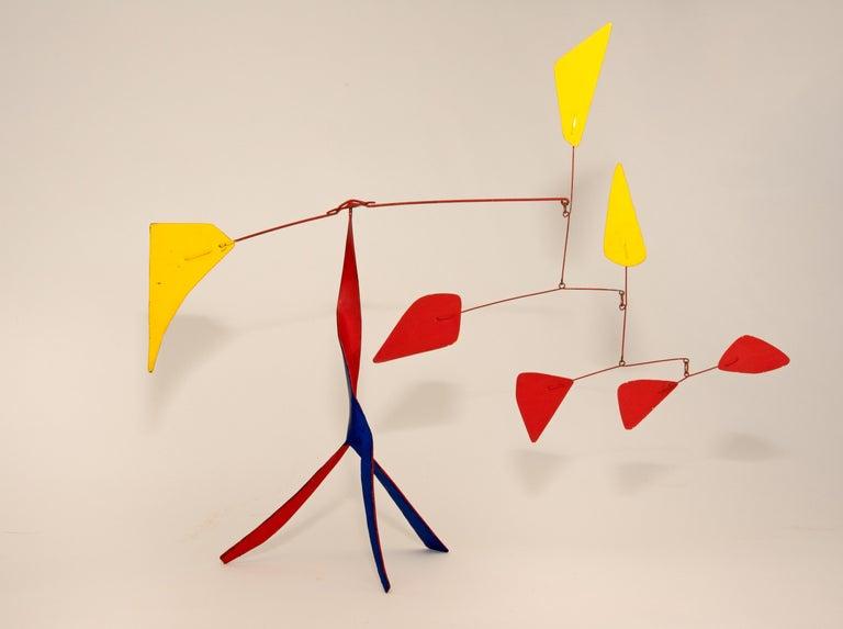 Alexander Calder Abstract Sculpture - Red Versus Yellow