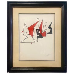 "Alexander Calder ""Stabiles"" Signed Lithograph"