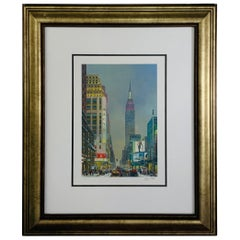 Alexander Chen Empire State Building Print Signed and Numbered, Framed