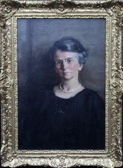 Portrait of a Woman - Scottish 20s Post Impressionist art portrait oil painting