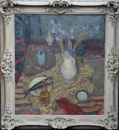 Still Life 1951 - Scottish art Interior still life oil painting exhib RSA 1953