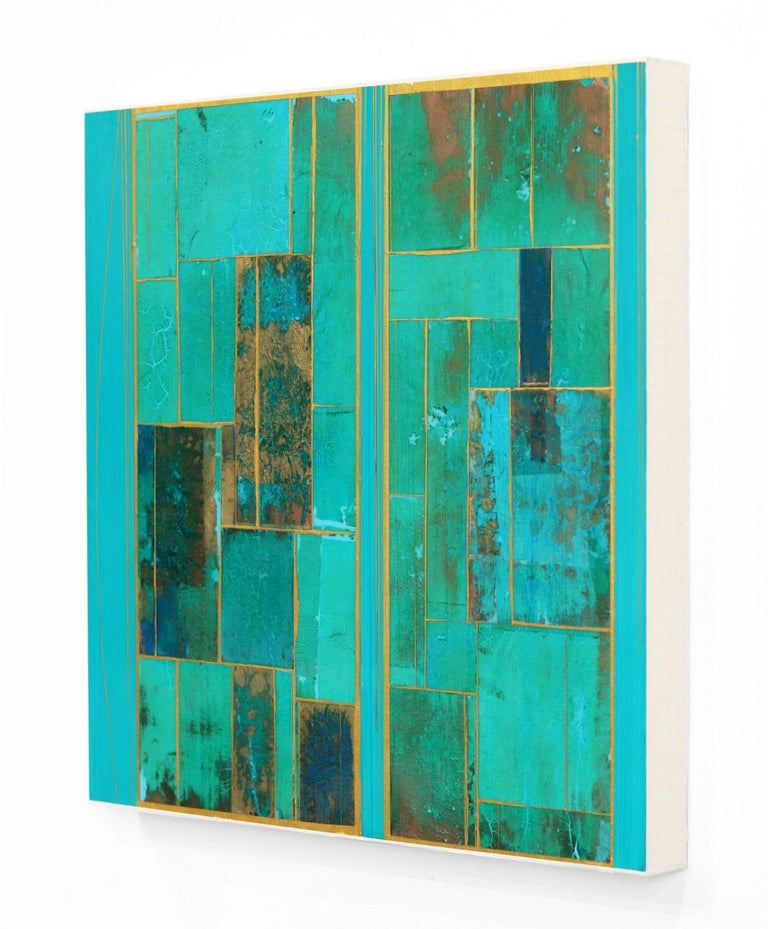 Glimpses No. 6 - Gold Abstract Painting by Alexander Eulert
