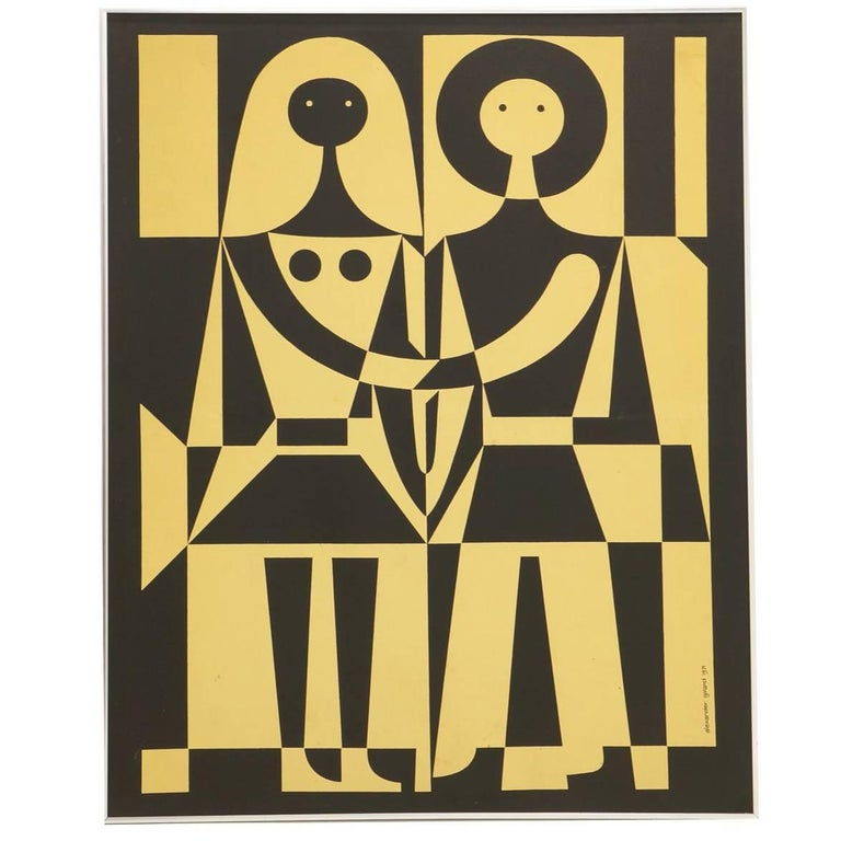 Alexander Girard Black and White, Male Female Environmental Enrichment Panel