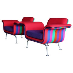Alexander Girard Lounge Chairs, Model 66301 for Herman Miller, circa 1967