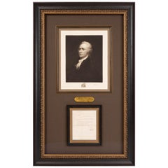 Alexander Hamilton Signed Treasury Department Collage
