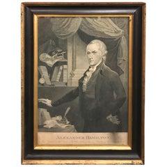 Alexander Hamilton Stipple Engraving by Archibald Robertson/William Rollinson