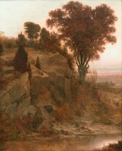 In the Adirondacks, Landscape by Alexander Helwig Wyant (1836-1892, American)