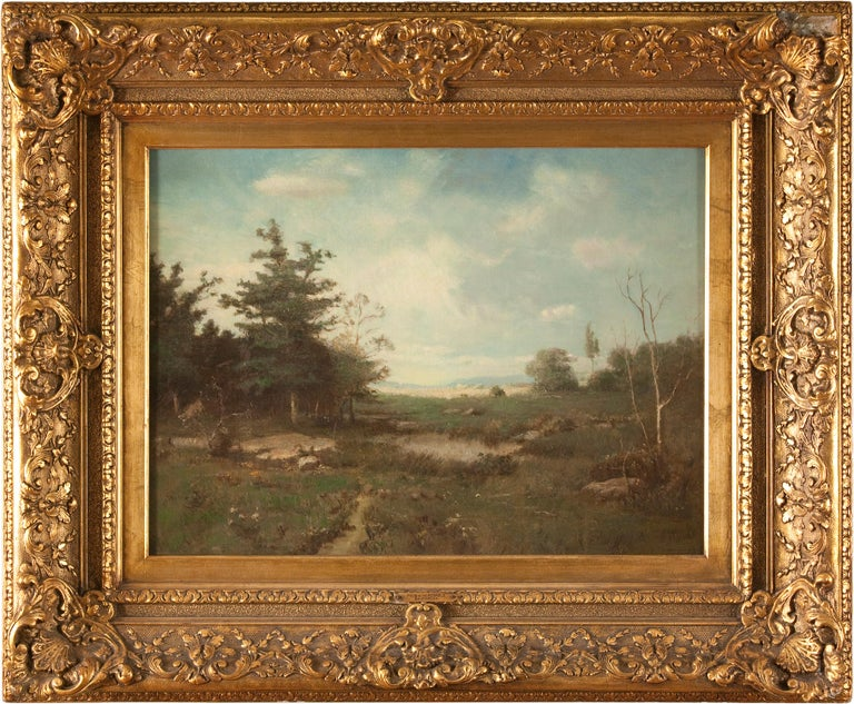 Alexander Helwig Wyant Landscape Painting - Pool on the Ausable