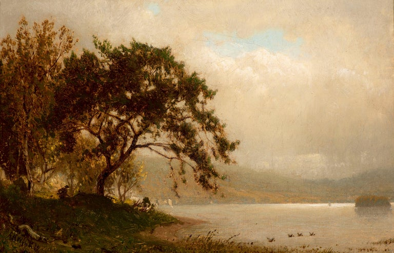 Alexander Helwig Wyant Landscape Painting - The Duck Hunter