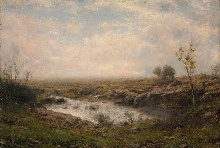 Alexander Helwig Wyant Landscape Painting - The Quiet Pond