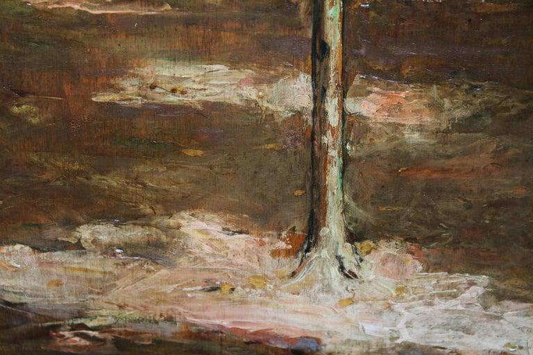 Garden Landscape - Scottish Impressionist oil painting statue Versailles France For Sale 7