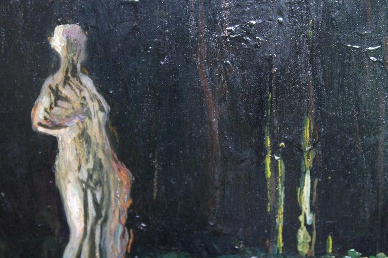 Garden Landscape - Scottish Impressionist oil painting statue Versailles France For Sale 4
