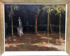 Garden Landscape - Scottish Impressionist oil painting statue Versailles France