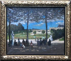 Versailles - Edwardian art figurative French garden landscape exh. oil painting