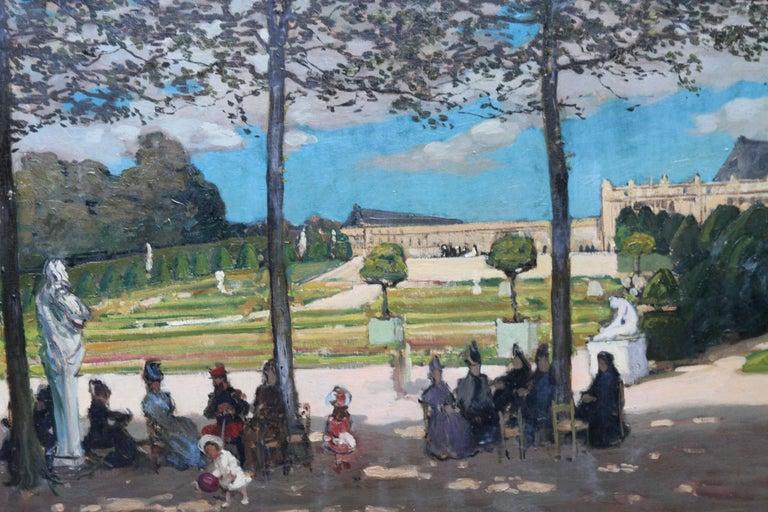 Versailles - Scottish Edwardian art French garden landscape exh. oil painting - Impressionist Painting by Alexander Jamieson