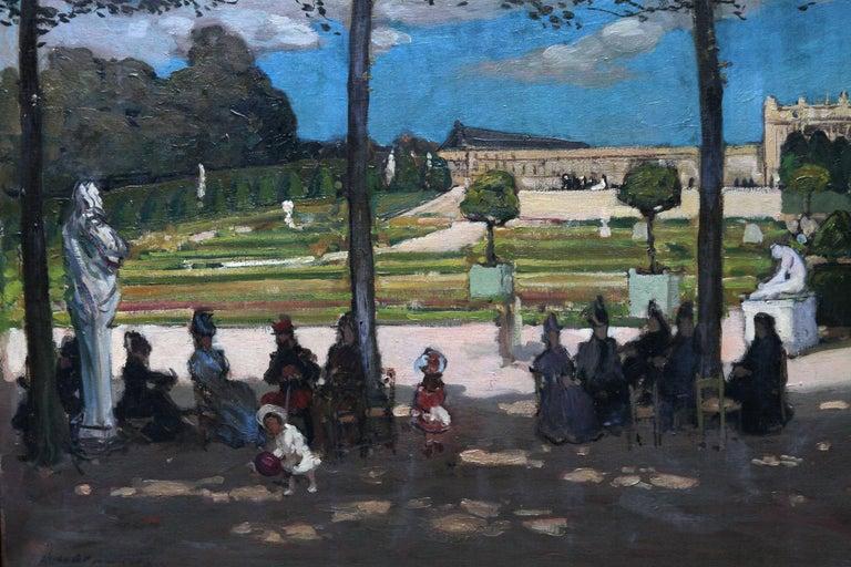 Versailles - Scottish Edwardian art French garden landscape exh. oil painting - Black Figurative Painting by Alexander Jamieson