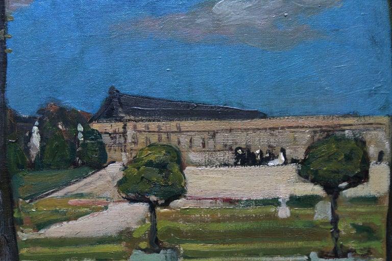 Versailles - Scottish Edwardian art French garden landscape exh. oil painting 2