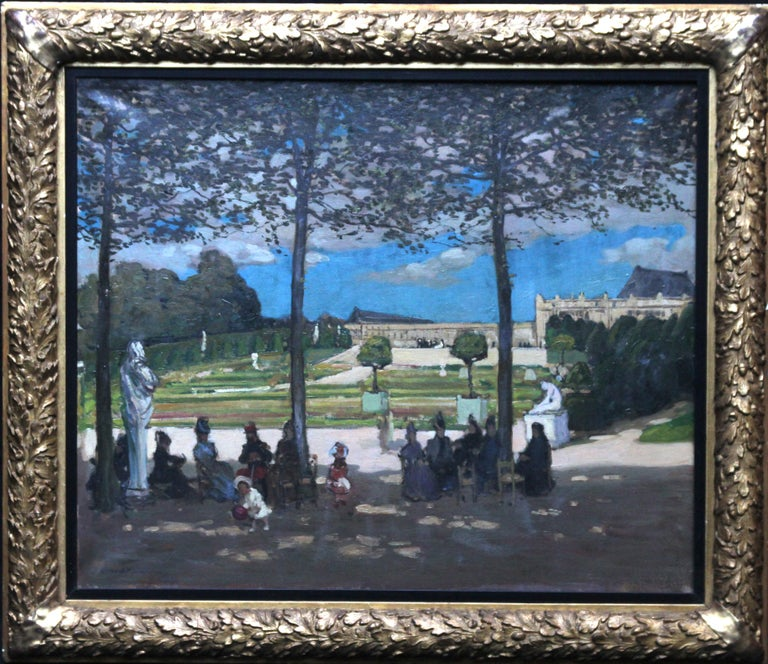 Alexander Jamieson Figurative Painting - Versailles - Scottish Edwardian art French garden landscape exh. oil painting