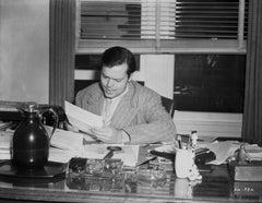Orson Welles Working at Desk Fine Art Print