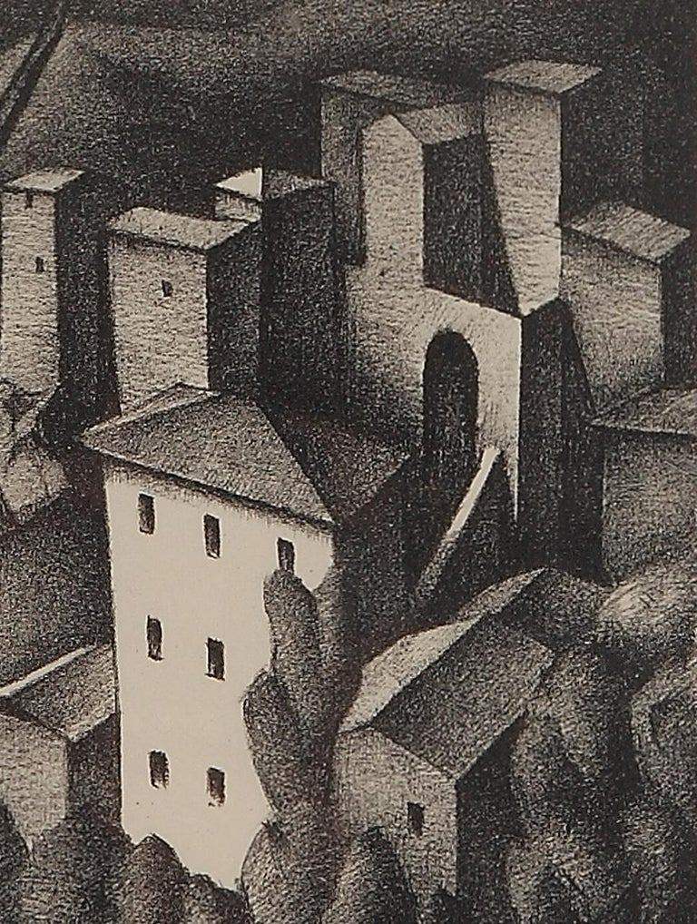 Lithograph on paper, 1925 by Alexander Kanoldt, Germany. Signed in pencil lower right with