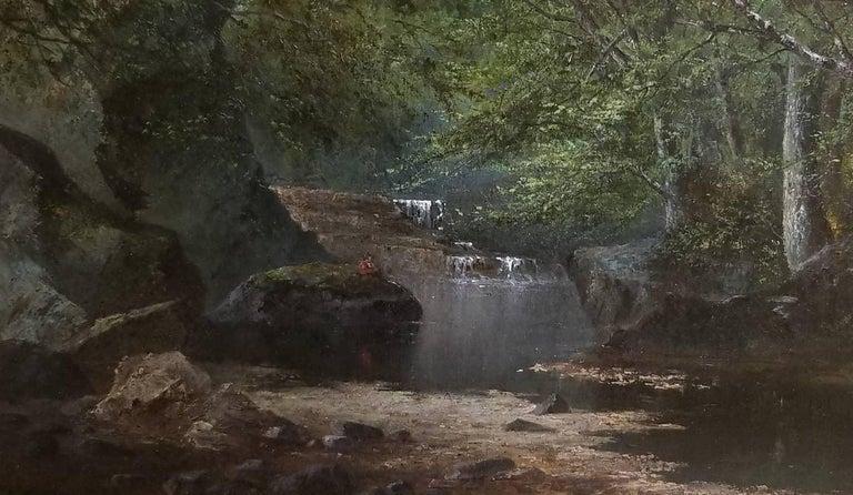 Alexander Lawrie Landscape Painting - Ausable Pool, Adirondacks