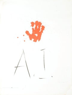 1977 Alexander Liberman 'Amnesty International' Orange,White Lithograph