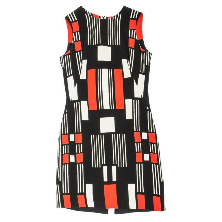 ALEXANDER Mc QUEEN Sleeveless Summer Dress in Multicolored Crepe