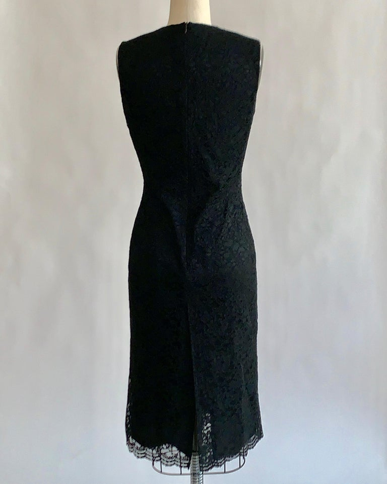 Alexander McQueen 1990s Black Lace Sleeveless Dress Vintage In Good Condition For Sale In San Francisco, CA