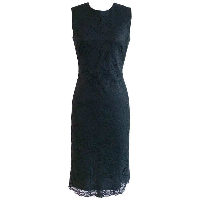 Alexander McQueen 1990s Black Lace Sleeveless Dress Vintage For Sale