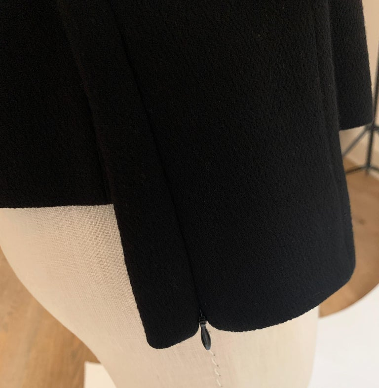 Alexander McQueen 2004 Black Tailored Jacket with White Stitch Detail For Sale 2