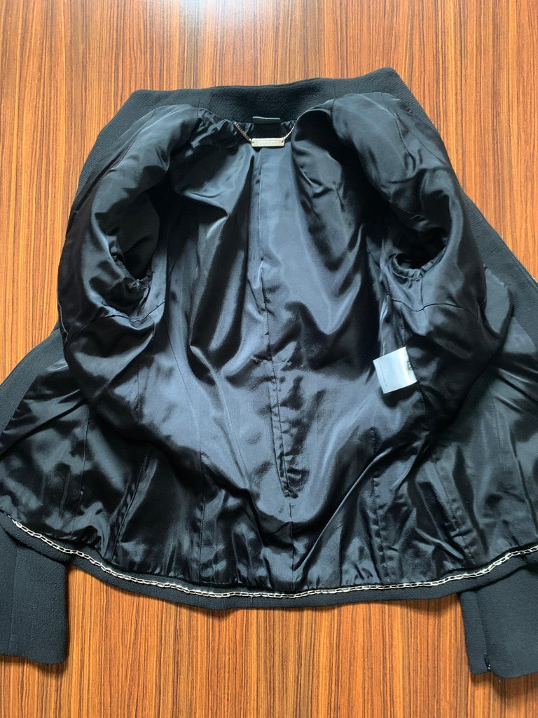 Alexander McQueen 2004 Black Tailored Jacket with White Stitch Detail For Sale 3