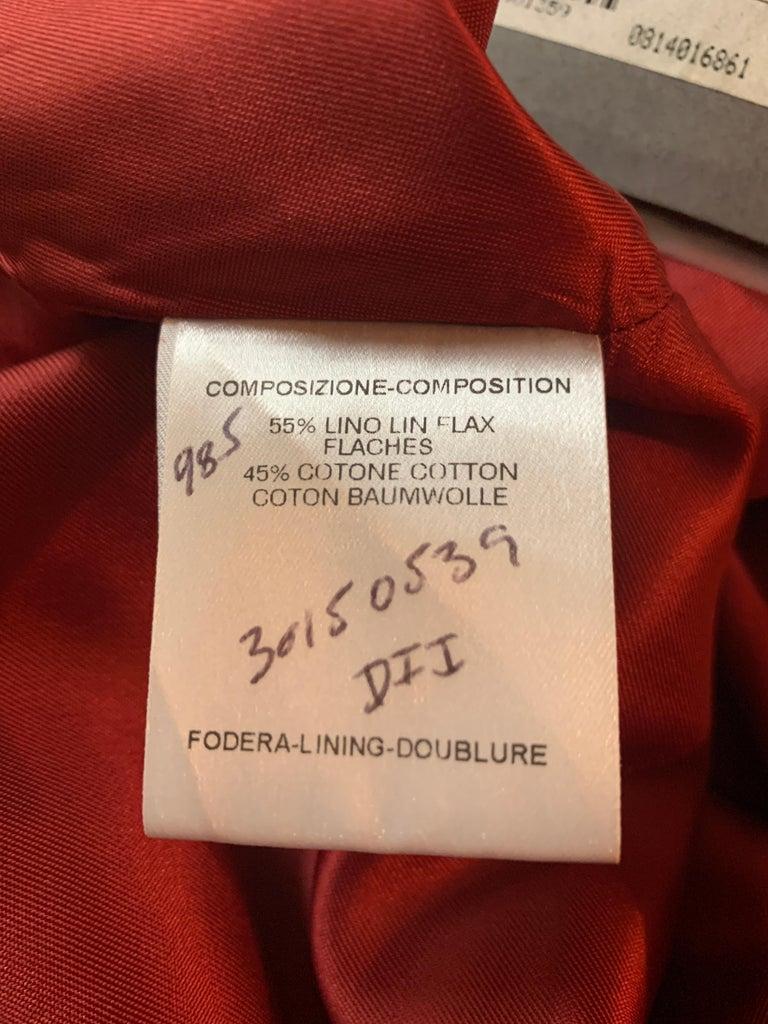 Alexander Mcqueen 2004 Gold Embellished Burgundy Red Pencil Skirt  For Sale 8