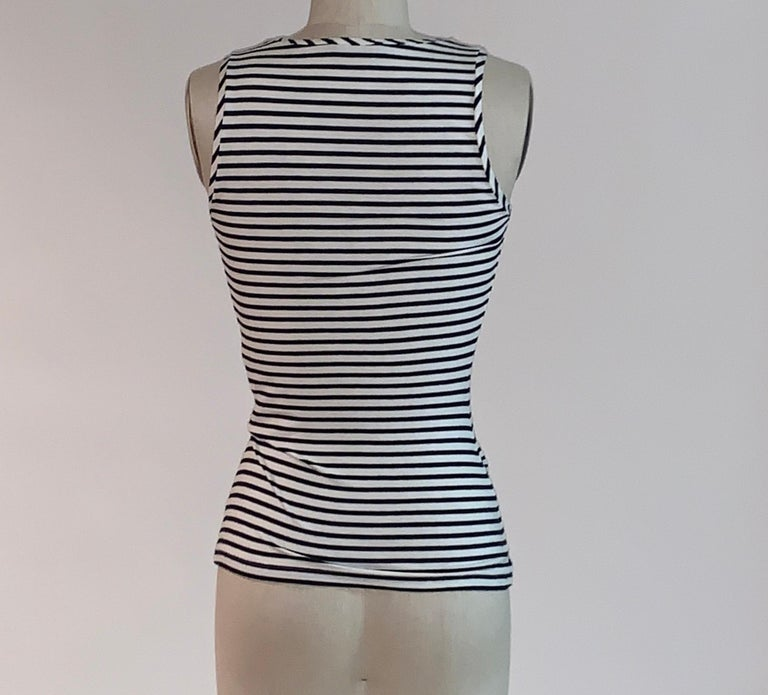 Alexander McQueen 2005 Nautical Button Anchor and Fish Stripe Top In Good Condition For Sale In San Francisco, CA