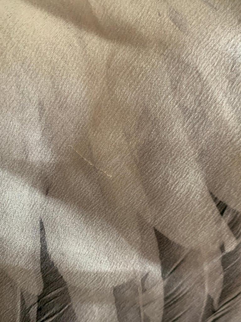Alexander McQueen 2007 Black Silk Feather Print Cowl Neck Dress  For Sale 5