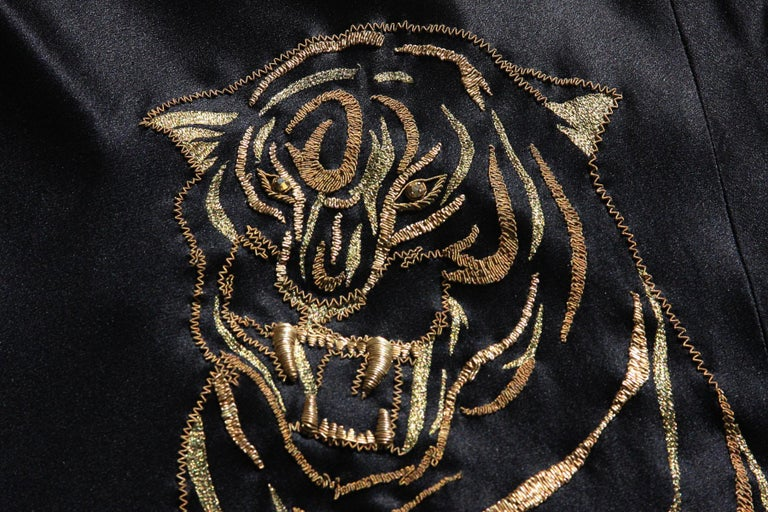 Alexander McQueen 2007 Gold Embroidered Tiger Dress 42 as seen on MARY STUART TV For Sale 5