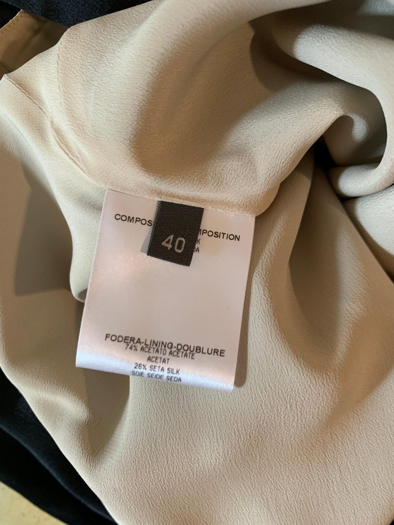 Alexander McQueen 2008 Black and Nude Silk Asymmetrical Drape Dress  For Sale 3